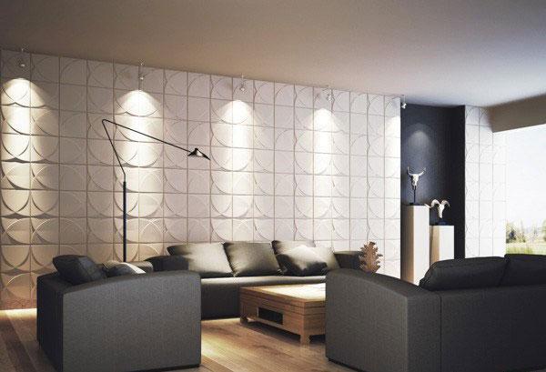دیوار مدرن و لوکس با پنل سه بعدی