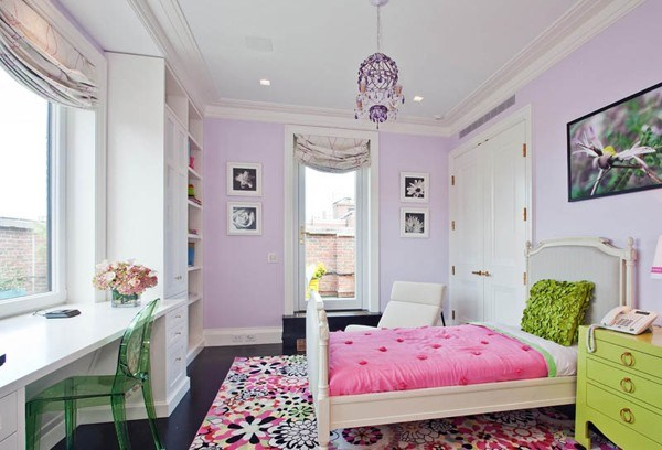 پرطرفدارترین رنگ ها برای اتاق خواب دخترانه