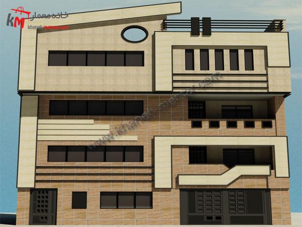 پلان آپارتمان |نما مدرن |ساختمان مسکونی چهار طبقه