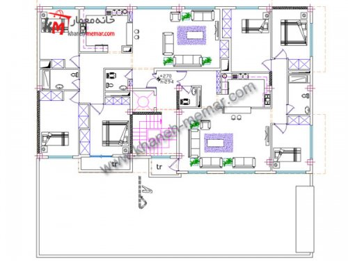 دانلود نقشه |نقشه مسکونی