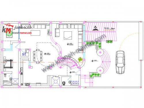خانه معمار |دالود نقشه معماری