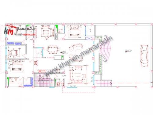 خانه معمار |نقشه خانه