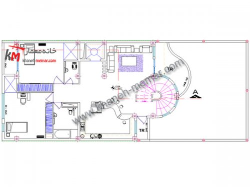پلان کلاسیک |دانلود نقشه ساختمان